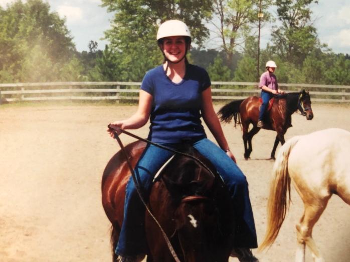 Annie Nelson rides her schooling horse, Zippity Do Dah.
